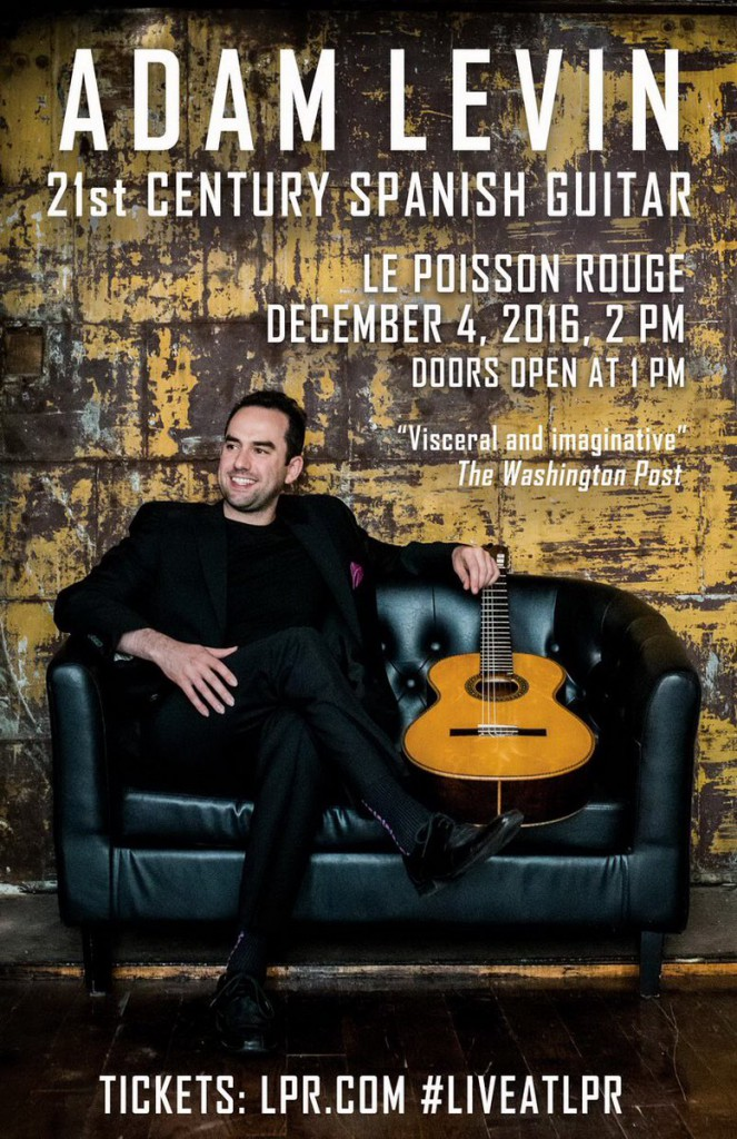 Adam Levin 2016 New York concert